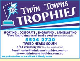 TWIN TOWNS TROPHIES BUSINESS CARD